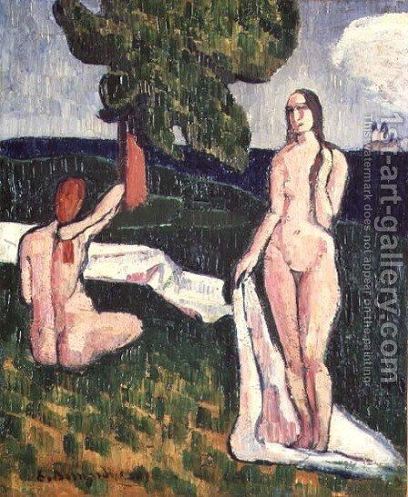 Two Bathers under a Tree, 1889 by Emile Bernard - Reproduction Oil Painting