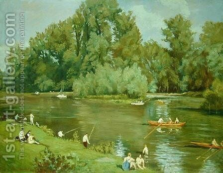 On the Shore of the Marne, c.1932 by Emile Bernard - Reproduction Oil Painting