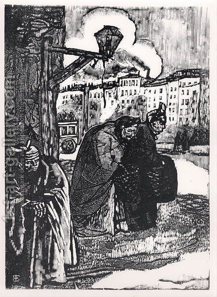Illustration for Poems by Charles Baudelaire (1821-67) by Emile Bernard - Reproduction Oil Painting