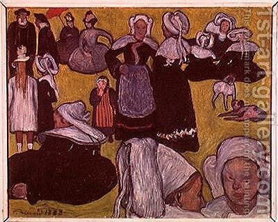 Bretons in a Field or, The Pardon, 1888 by Emile Bernard - Reproduction Oil Painting