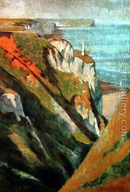 Cliffs and sea by Emile Bernard - Reproduction Oil Painting