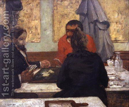 Card Players, 1883 by Charles Cottet - Reproduction Oil Painting