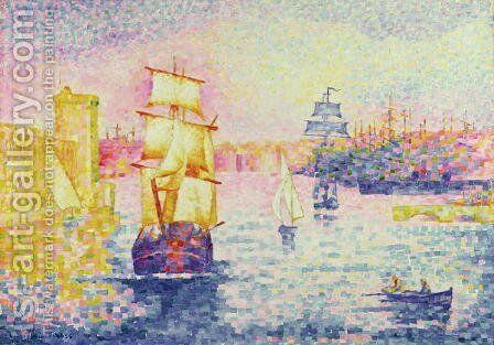 The Port of Marseilles, c.1909 by Henri Edmond Cross - Reproduction Oil Painting