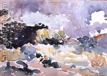 A Small Landscape, 1905 by Henri Edmond Cross - Reproduction Oil Painting