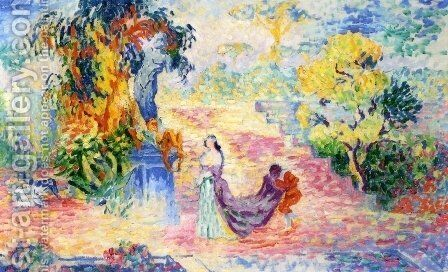 Woman in the Park, 1909 by Henri Edmond Cross - Reproduction Oil Painting