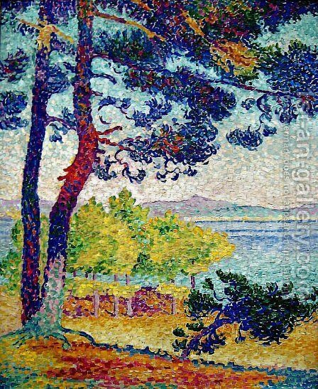 Afternoon at Pardigon, Var, 1907 by Henri Edmond Cross - Reproduction Oil Painting