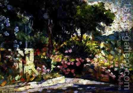 The Flowered Terrace, 1905 by Henri Edmond Cross - Reproduction Oil Painting