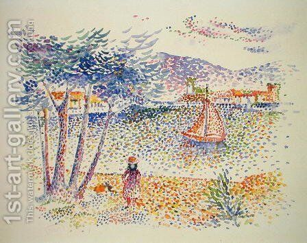 Sailing Boats at the Seaside by Henri Edmond Cross - Reproduction Oil Painting