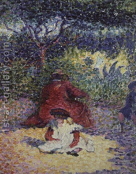 In the Garden by Henri Edmond Cross - Reproduction Oil Painting