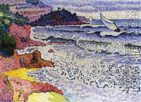 The Choppy Sea, 1902-3 by Henri Edmond Cross - Reproduction Oil Painting