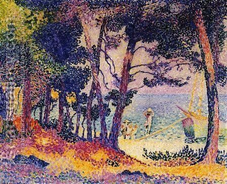 A Pine Grove, 1906 by Henri Edmond Cross - Reproduction Oil Painting