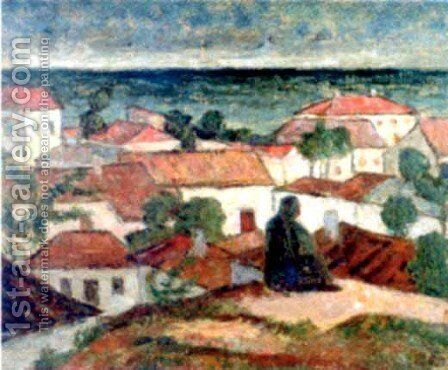Landscape from Mangalia by Stefan Dimitrescu - Reproduction Oil Painting