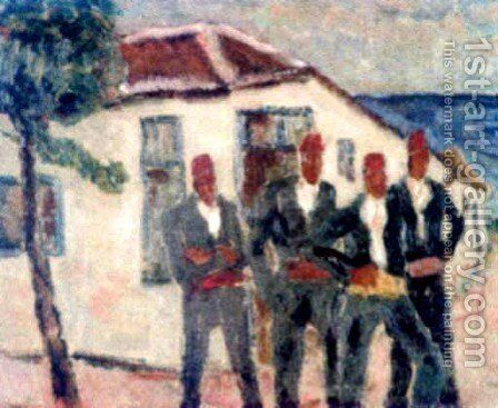 Turks in Mangalia by Stefan Dimitrescu - Reproduction Oil Painting