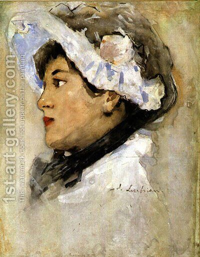 Portrait of a Woman 1901 by Stefan Luchian - Reproduction Oil Painting