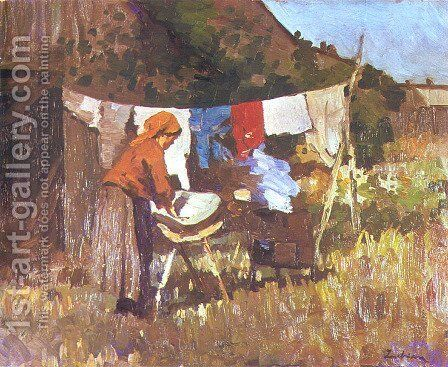 The Laundress by Stefan Luchian - Reproduction Oil Painting