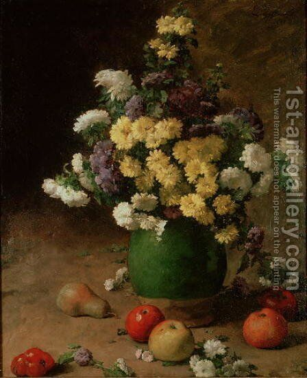 Flowers and Fruit, 1880 by Claude Emile Schuffenecker - Reproduction Oil Painting