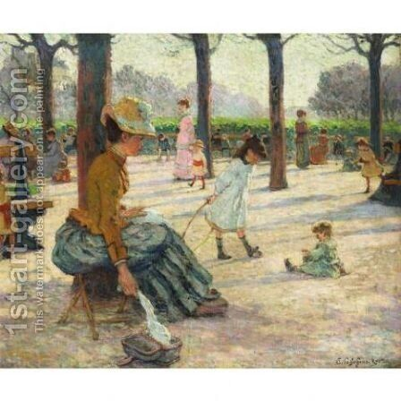 Le square au Luxembourg by Claude Emile Schuffenecker - Reproduction Oil Painting