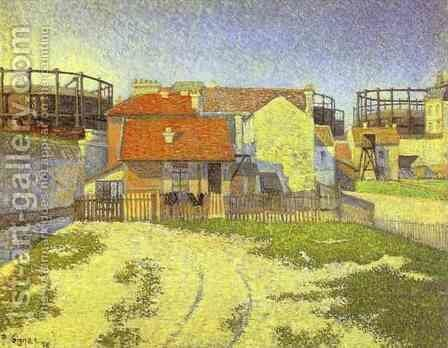 Gasometers at Clichy, 1886 by Paul Signac - Reproduction Oil Painting