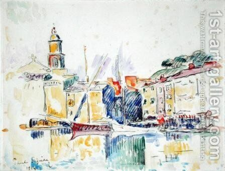 French Port of St. Tropez, 1914 by Paul Signac - Reproduction Oil Painting
