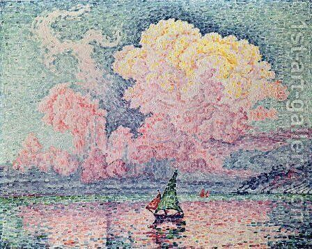 Antibes, the Pink Cloud, 1916 by Paul Signac - Reproduction Oil Painting