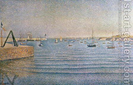 The Harbour at Portrieux, 1888 by Paul Signac - Reproduction Oil Painting
