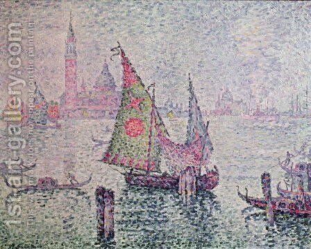 The Green Sail, Venice, 1904 by Paul Signac - Reproduction Oil Painting