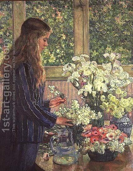 Garden Flowers by Theo van Rysselberghe - Reproduction Oil Painting