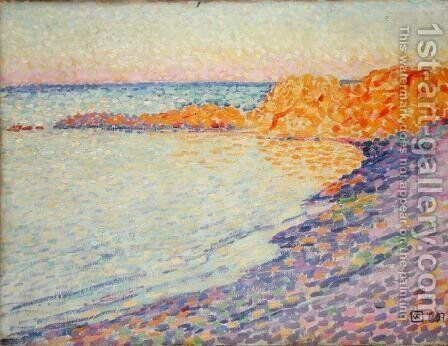 Petit Plage, Saint Tropez, 1897 by Theo van Rysselberghe - Reproduction Oil Painting