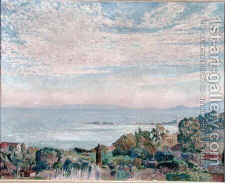 La Baie de St. Clair, 1923 by Theo van Rysselberghe - Reproduction Oil Painting
