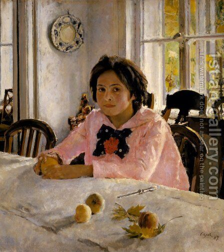 Girl with Peaches, 1887 by Valentin Aleksandrovich Serov - Reproduction Oil Painting
