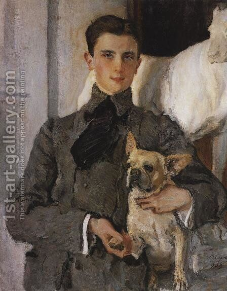 Portrait of Count Feliks Feliksovich Sumarokov-Yelstov (1887-1967) later Prince Yusupov, 1903 by Valentin Aleksandrovich Serov - Reproduction Oil Painting