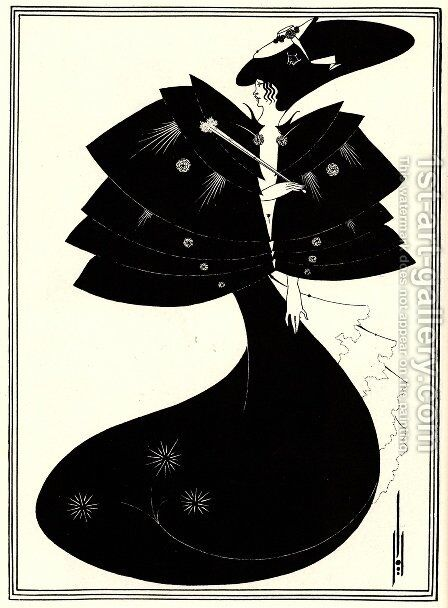 The Black Cape, illustration for the English edition of Oscar Wilde's play 'Salome', 1894 by Aubrey Vincent Beardsley - Reproduction Oil Painting
