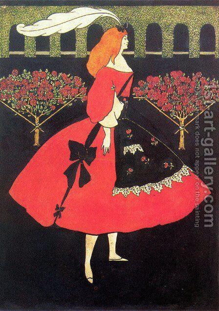 The Slippers of Cinderella, 1894 by Aubrey Vincent Beardsley - Reproduction Oil Painting