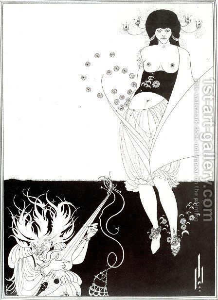 The Stomach Dance, from 'Salome' by Oscar Wilde (1854-1900) 1893 by Aubrey Vincent Beardsley - Reproduction Oil Painting