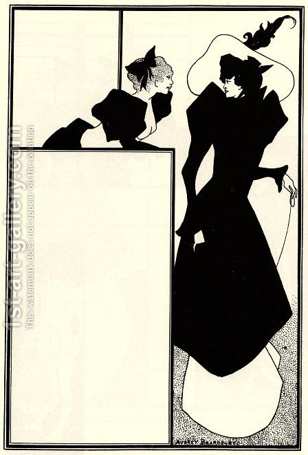 Poster advertising 'The Spinster's Scrip' by Aubrey Vincent Beardsley - Reproduction Oil Painting