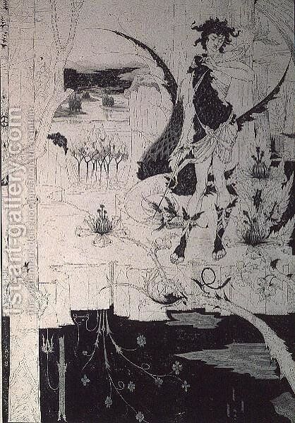 Siegfried, from Act II of 'The Ring of the Nibelung' by Aubrey Vincent Beardsley - Reproduction Oil Painting
