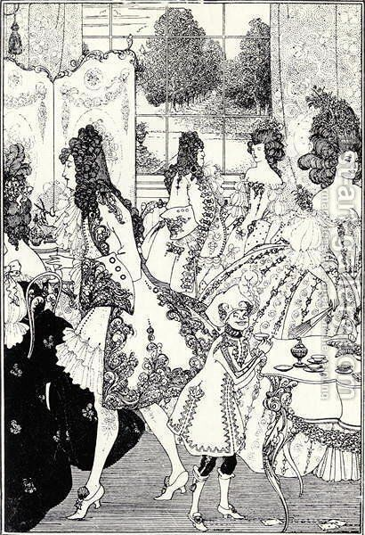 Illustration for 'The Rape of the Lock' by Aubrey Vincent Beardsley - Reproduction Oil Painting