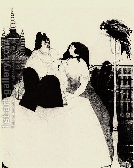 The Lady at the Dressing Table by Aubrey Vincent Beardsley - Reproduction Oil Painting