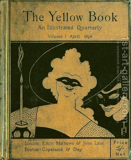 Frontispiece for 'The Yellow Book: An Illustrated Quarterly', Volume I, April 1894 by Aubrey Vincent Beardsley - Reproduction Oil Painting