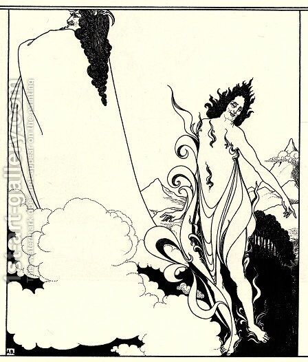 Fourth tableau of Das Rheingold by Aubrey Vincent Beardsley - Reproduction Oil Painting