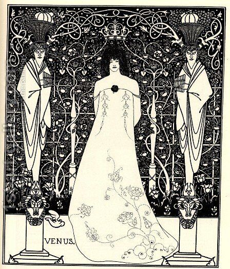 Frontispiece for 'Venus and Tannhauser', c.1895 by Aubrey Vincent Beardsley - Reproduction Oil Painting