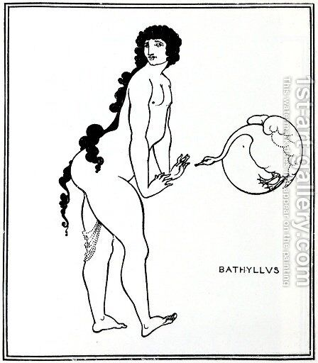 Bathyllus in the Swan Dance, illustration from 'The Sixth Satire of Juvenal', 1896 by Aubrey Vincent Beardsley - Reproduction Oil Painting