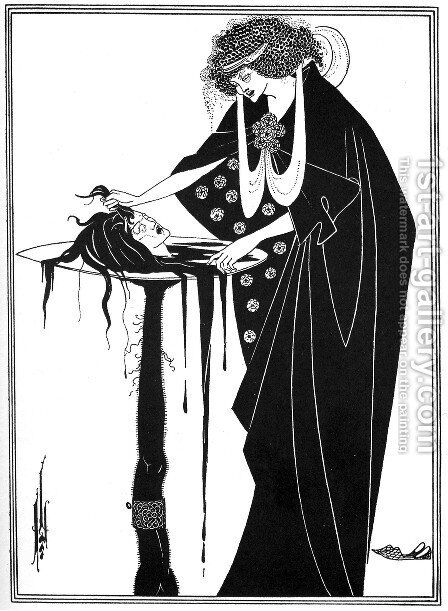 The Dancer's Reward, illustration from 'Salome' by Oscar Wilde, pub. 1894 by Aubrey Vincent Beardsley - Reproduction Oil Painting
