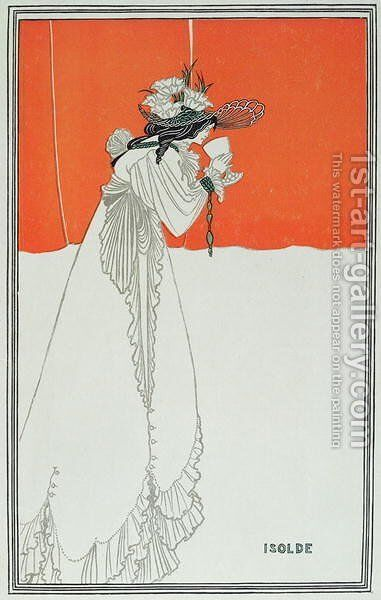 Isolde Drinking the Poison by Aubrey Vincent Beardsley - Reproduction Oil Painting