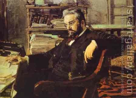 Portrait of a Businessman K. Artsybushev. 1895-1896 by Mikhail Aleksandrovich Vrubel - Reproduction Oil Painting