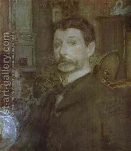 Self-Portrait, 1905 by Mikhail Aleksandrovich Vrubel - Reproduction Oil Painting