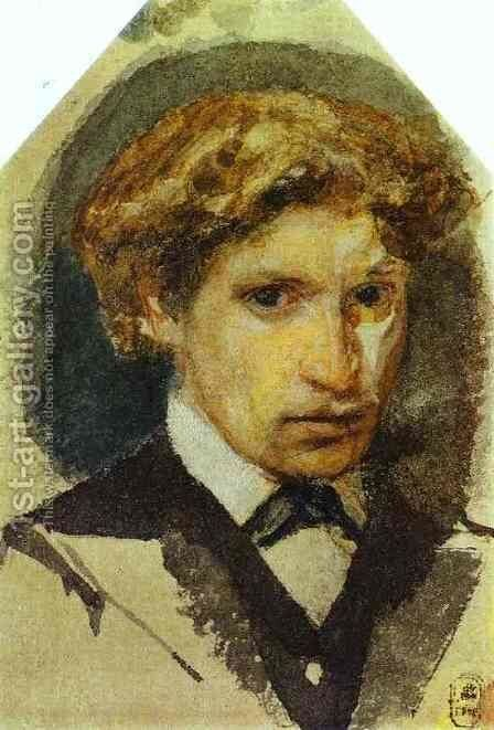 Self-Portrait, 1882 by Mikhail Aleksandrovich Vrubel - Reproduction Oil Painting