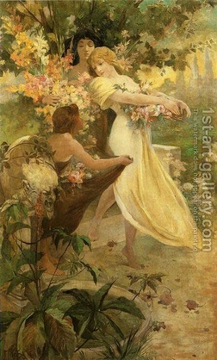 Flower, 1894 by Alphonse Maria Mucha - Reproduction Oil Painting