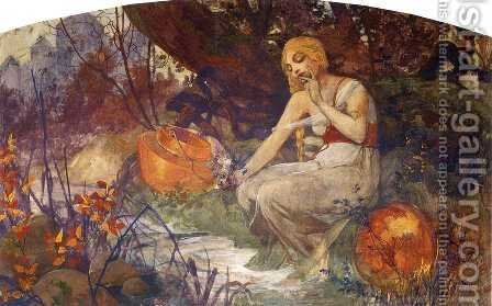 Prophetess, 1896 by Alphonse Maria Mucha - Reproduction Oil Painting