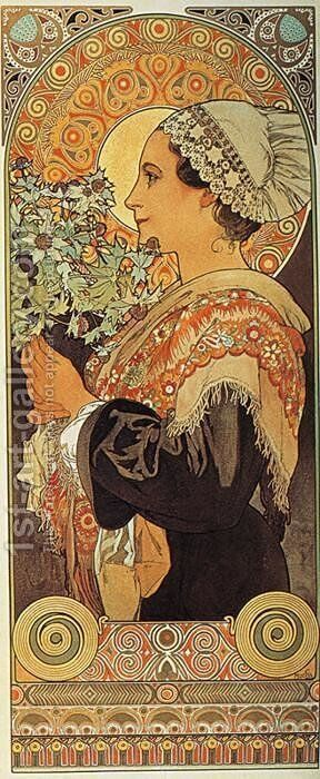 Thistle from the Sands. 1902 by Alphonse Maria Mucha - Reproduction Oil Painting